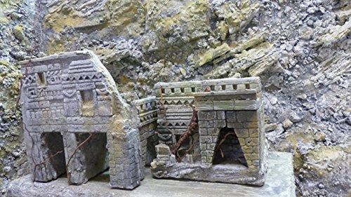 MAYA Terrarien Set, Terrarium Deko Themen Rückwand - 2