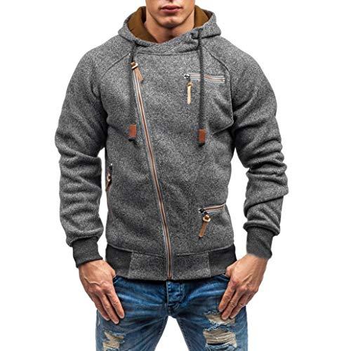 Paolian Pull à Capuche à Manches Longues à Manches Longues pour Hommes, Sweatshirt Chaud à la Mode d'automne et d'hiver pour Hommes