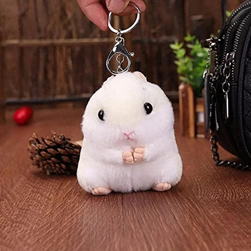 NC518 2 Piezas de Juguetes de Peluche Mini Kawaii Hamster Dibujos Animados Lindo muñeco de Peluche niños niñas Llavero Juguetes Regalos para niños llaveros para niños