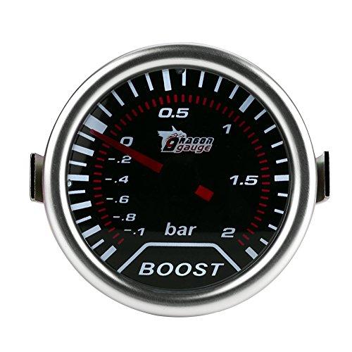 Qiilu 2 pulgadas (50 mm) Universal Turbo Boost Meter