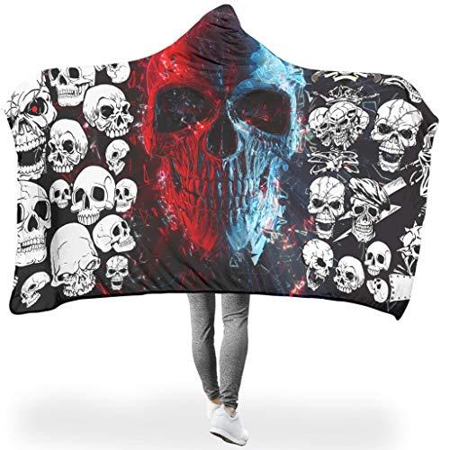 O5KFD & 8 Twee maten thema's knuffeldeken met patroon SHERPA dragen Robe capuchon - Hooded BlanketPast Sofacouch
