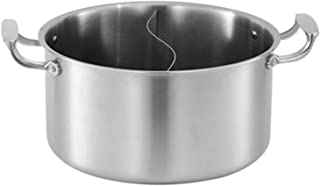 Pot Chaud Induction chinoise Pot Shabu avec diviseur Shabu Shabu Chaud Pot Acier inoxydable pour cuisinière cuisine Poêle ...