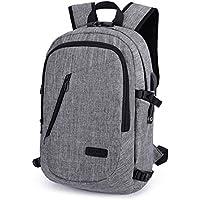 COPARK Mochila para Portatil 15.6 Pulgadas Impermeable Antirrobo, Trabajo Viaje Multiusos Daypacks con Puerto de Carga USB Hombre Mujer Estudiante (Gris)