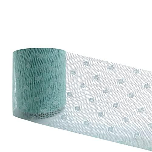 チュールロールファブリックオーガンザチュチュファブリックベビーシャワーパーティー用品髪弓手作りの素材 (Color : Mint Green, Size : 1pc)