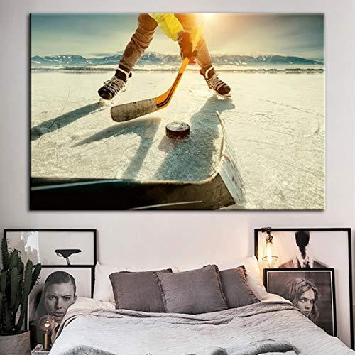 Danjiao Leinwand Gedruckt Wandkunst Poster Eishockey Landschaft Malerei Moderne Dekoration Moderne Modulare Bilderrahmen Für Wohnzimmer 60x90cm