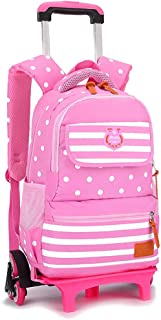 XHHWZB Ultralight Children's Trolley Bag Schoolgirl Large 3-5-6 Grade Boys and Girls Large Capacity 6-12 Years Old