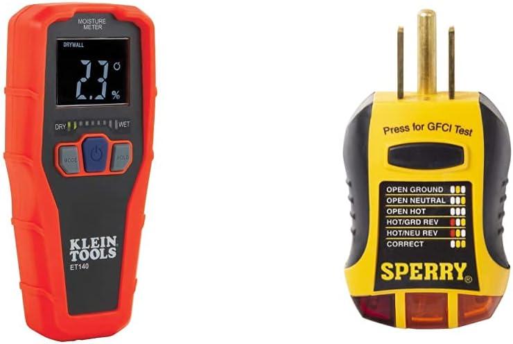 Klein Tools ET140 Pinless Moisture Moi Non-Destructive Regular store Meter for mart