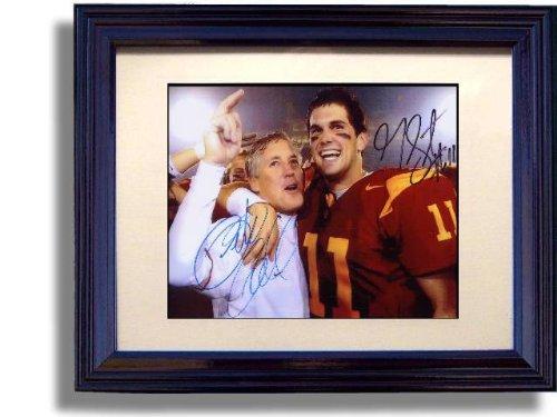 Framed USC Trojans Pete Carroll, Matt Leinart National Championship Framed Autograph Print