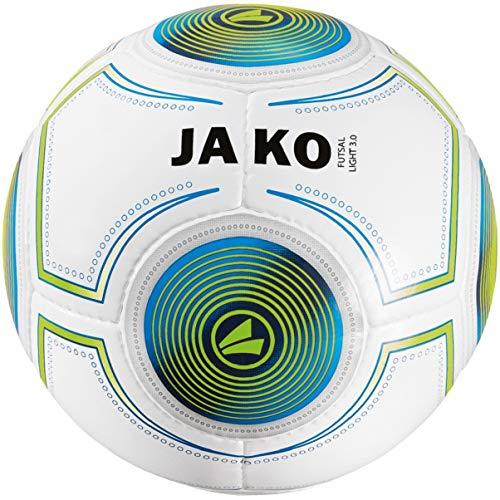 JAKO Herren Ball Futsal Light 3.0, 4, weiß/JAKO blau/neongrün-290g