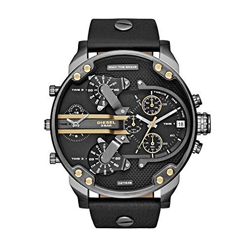 Diesel DZ7348 - Reloj de Pulsera Hombre, Cuero, Color Negro