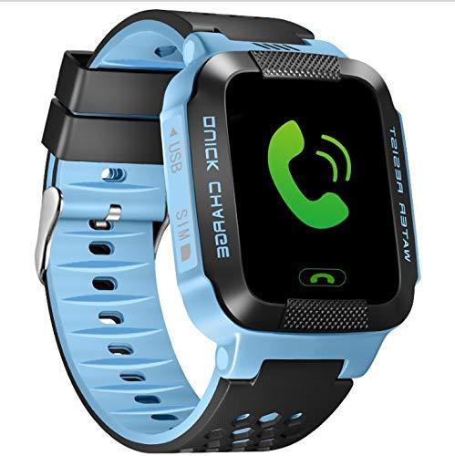 Kinderen Smart Watch Ingebouwde Lbs-Positionering Sos Call Anti Lost Voice Monitoring Baby Security Tracker Baby-Telefoonhorloges 1,44 Inch Blauw