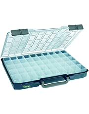 raaco 138529 assortimentskoffer CarryLite 55 5x10-50, donkerblauw