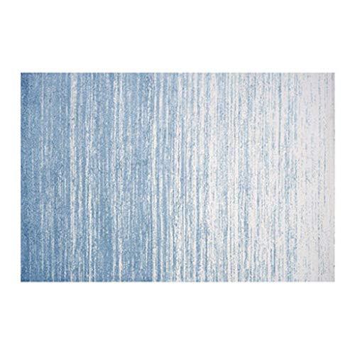 Alfombra de gran superficie, lavable, alfombra de suelo mezclada, antideslizante, para salón, dormitorio, salón (color azul, tamaño: 80 x 160 cm)