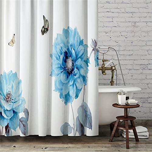 XCBN Cortinas de Ducha con Ilustraciones de Frutas a Prueba de Agua con Ganchos Cortinas para decoración de baño Cortina de decoración del hogar A3 150x180cm