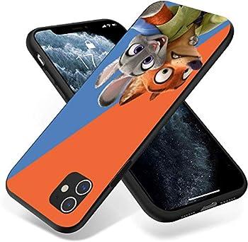 for iPhone 11 Case Premium Silicone Rubber Full-Body Protective Case  Zootopia-Rabbit-Fox