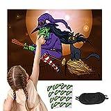 CINVEED Halloween Party Spiele Ansteckspiele Pin die Nase