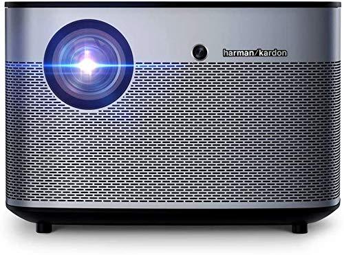 TIANYOU Proyector Proyector 1350 Lumens 1080P Led Dlp Video 3D Wifi Bluetooth Smart Theatre para Entretenimiento en el Hogar Enfoque automático/Negro / 201x201x135mm