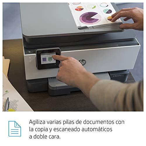 HP OfficeJet Pro 9010 - Impresora multifunción tinta, color, Wi-Fi, Ethernet, gris, compatible con Instant Ink (3UK83B)