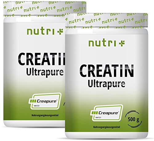 CREATIN 1kg Creapure ® - Kreatin-Monohydrat Pulver für mehr Kraft - Creatinmonohydrat hochdosiert, geschmacksneutral + vegan - 1000g Creatine Monohydrate Powder ohne Geschmack