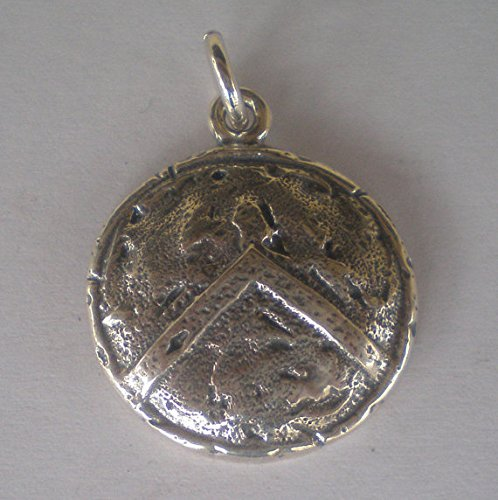 Spartan Shield Silver Pendant - King Leonidas - Ultimate Warriors - Thermopylae