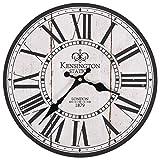 Tidyard Reloj Vintage de Pared de Cocina London 30 cm Blanco y Negro