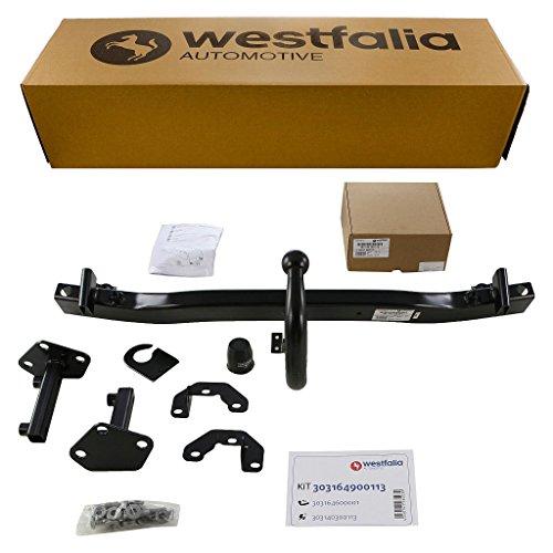 Westfalia Starre Anhängerkupplung für BMW 3er Touring (E46) (BJ 01/1999 - 09/2005) im Set mit 13-poligem fahrzeugspezifischen Westfalia Elektrosatz
