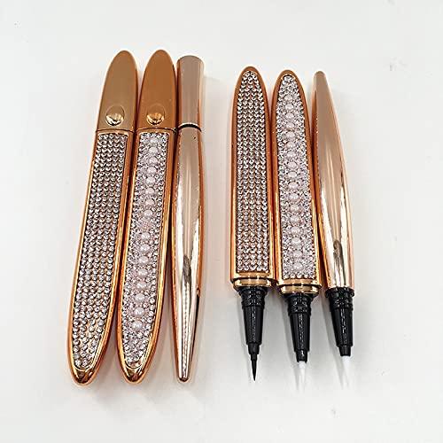 Clear Eye Liner super klebrige Schwarz Adhesive Wimpern Eyeliner Pen Transparent Diamant Liquid Eyeliner