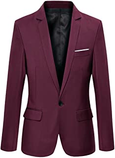 burgundy blazer mens slim fit