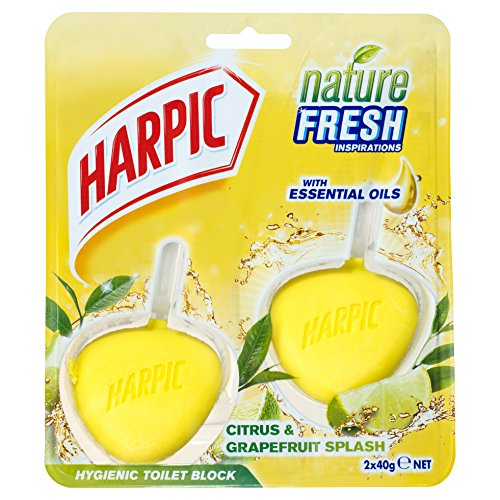 Harpic bloc Jante Citrus hygiénique 2x 40g (Lot de 6)