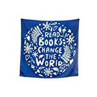 Read Books Tapestry Wall Hanging Reading Motivational Encouraging Quote for Classrooms Library 48in x 48in