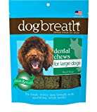 Herbsmith Dog Breath - Dental Chews for Large Dogs – Large Dog Breath Treats - Fresh Breath Dog Treats - Dog Dental Hygiene 7.54 oz