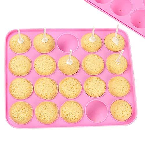 Linian Stampo per Cake Pop in Silicone,20 Cakepops Può Essere Usato per Fare Focaccine di Biscotti Lecca-lecca