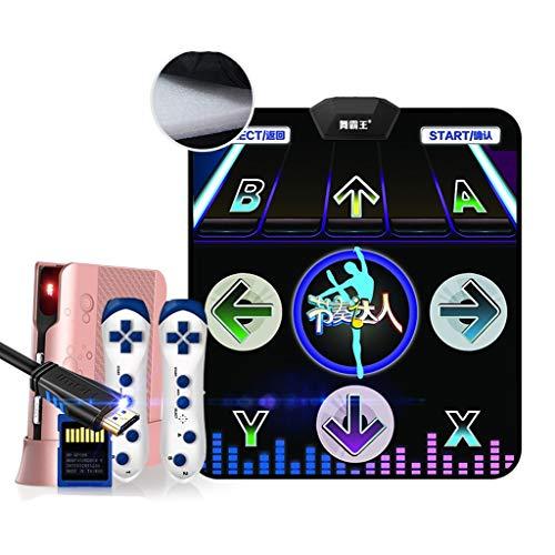 Tapis de danse actif à la maison avec interface TV et double usage sans fil pour perte de poids, PU, Noir A, 11mm