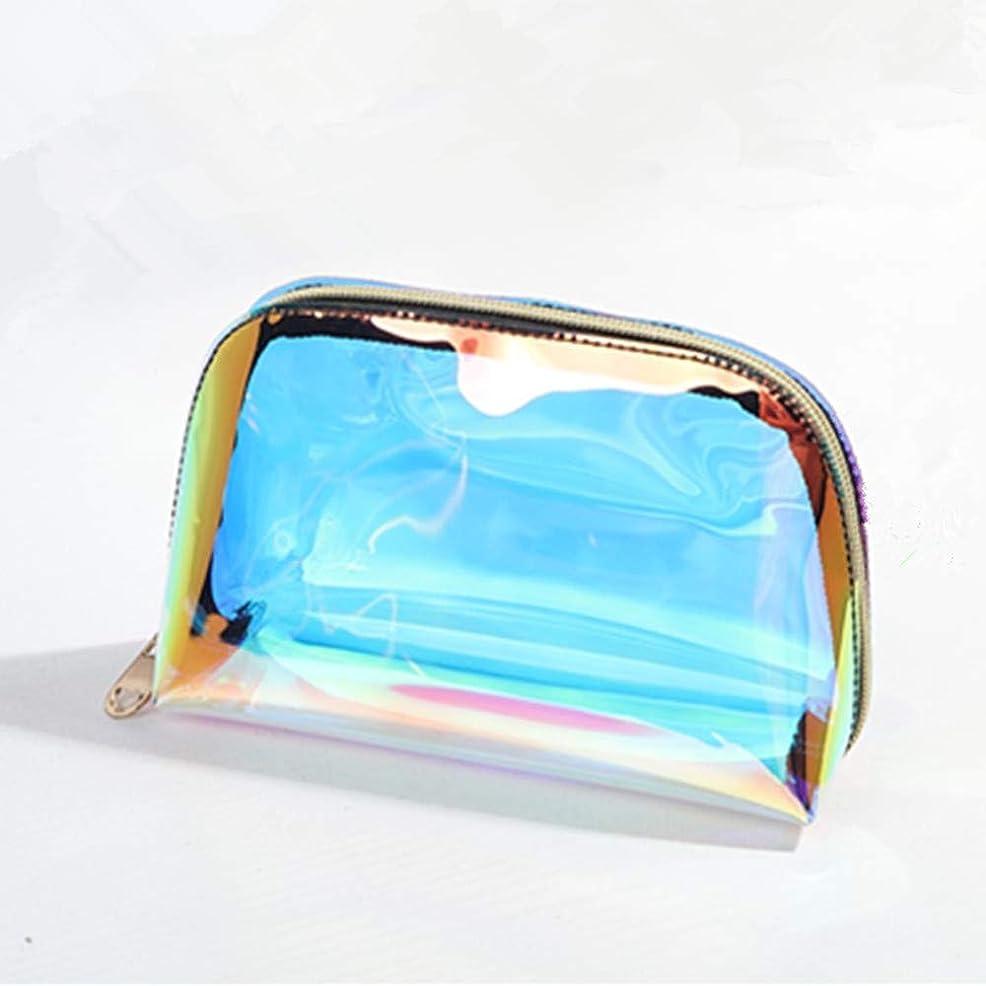 約束する判読できない砂漠GUJIJI 化粧ポーチ 大容量 防水 軽量便利 旅行 出張 温泉 防水 収納 镭射デザイン多機能バッグ 透明化粧品ボックス (SMALL, マルチカラー)