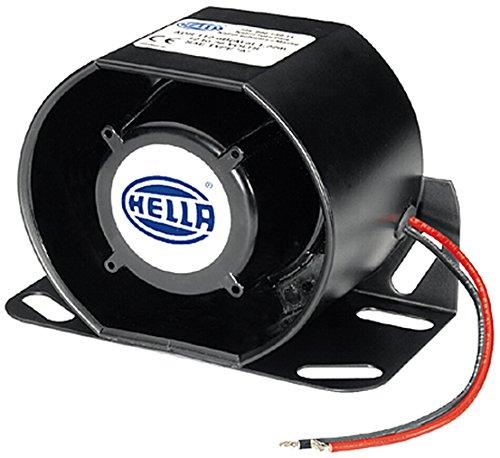 HELLA 3SL 996 139-001 Avisador de marcha atrás - acústico - 87dB (A) - Rango de frecuencia: 1200Hz - Cubierta de plástico - Color de carcasa: negro - Long. cable: 160mm