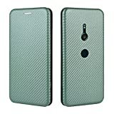 coperchio della scatola flip del telefono per sony xperia xz3 caso di lusso in fibra di carbonio in fibra di carbonio pu e tpu case ibrido protezione integrale antioproco antiurto case cover per sony