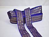 Venta al por mayor azul indio bordado recorte por 9 yardas disfraz de cinta de novia cinturón de cinta decorativa hindú artesanías costura borde vestido de boda recorte diseño elegante blusas encaje