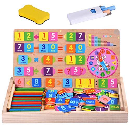 Sharplace Palos de Conteo Tarjeta de Números Matemáticas Aprendizaje Ayudas para La Enseñanza Niños Educación Temprana Juguetes para Niños Escribir Conteo Simpl