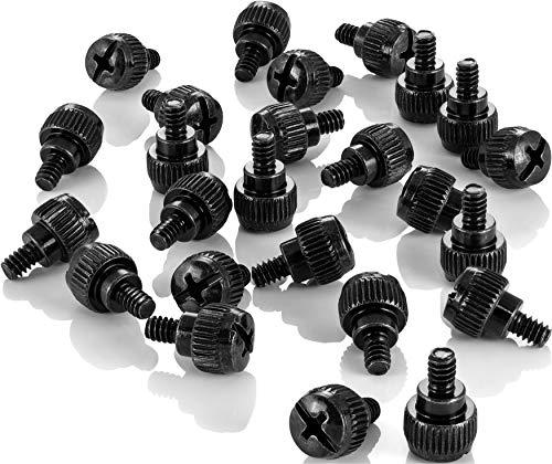Poppstar 25x Rändelschrauben für PC-Gehäuse (#6-32 x 6mm) Stahl Computer Gehäuse-Schrauben
