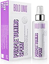 Blonde Toner Spray. Purple Leave In Toning Hair Treatment to Remove Brassy Surface Tones in Blonde, Platinum & Gray/Silver Hair. Paraben & Sulfate Free-PETA Approved Cruelty-free.