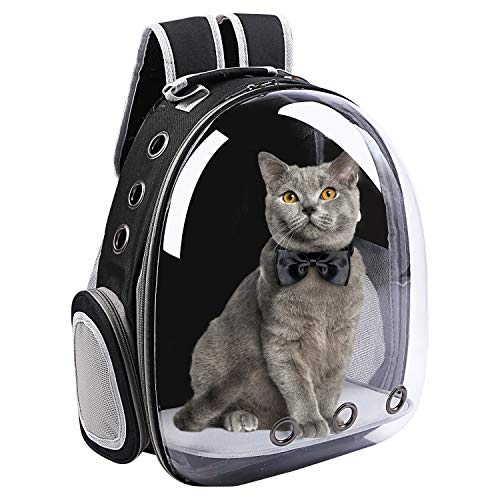 Domaker Cat Backpack Carrier Bag,Pet Carrier Backpack,Pet Bubble Backpack,Airline-Approved Transparent Space Capsule Backpack for Puppies Bunny Traveling,Camping & Outdoor Use