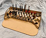 GameCraft Miniatures Painting Station - 26mm V2, for Vallejo and Army Painter Style Dropper Bottles