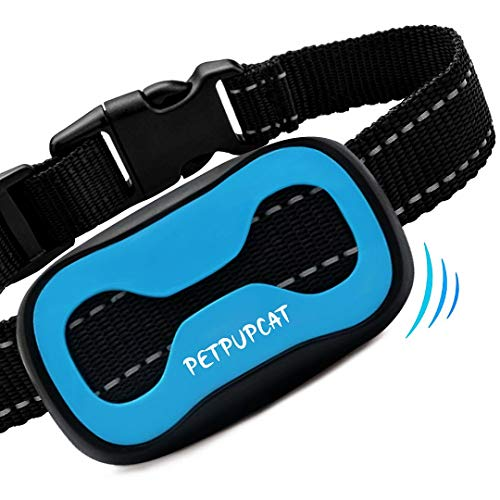PetPupCat Anti Bark Collar with Vibration - Dog Collar for Small/Medium/Large Dogs, Training Collar with 7 Adjustable Levels, Anti Barking Collar for Dogs
