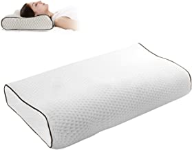 Gluckluz Memory Foam Pillow Cervical Bed Pillow Orthopedic Contour Pillow for Sleeping Side Sleeper Shoulder Support Back ...
