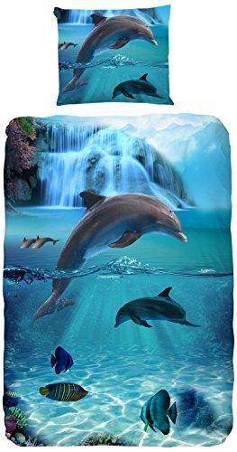 La parure de couette sur le thème du dauphin