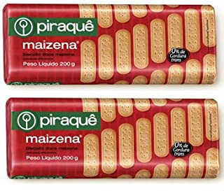 Piraque - Biscoito Doce De Maizena 200g (Pack Of 2)