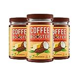 Grasso Mocha Creamer (previously Coffee Booster) | The Original High-Fat Coffee Creamer | Keto Friendly | Coconut Oil, Ghee, Cacao Powder | 3 Pack