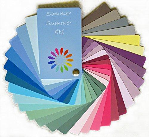 Farbpass Sommer (cool Summer) als Fächer mit 30 typgechten Farben zur Farbanalyse, Farbberatung