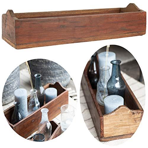 LS-LebenStil Allzweckkiste Aufbewahrung Unika 40cm Holzbox Holzkiste Deko-Kiste…