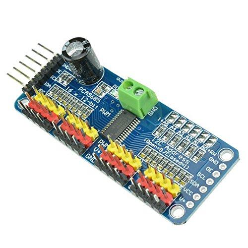 Demarkt–pca968516Canal 12bits PWM 43281000–Conductor IIC Módulo para Arduino Robot de interfaz I2C Módulo